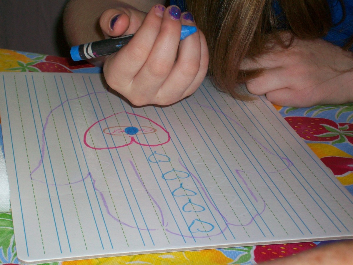 Have your kids sketch their designs on paper first, so they know what to put where.
