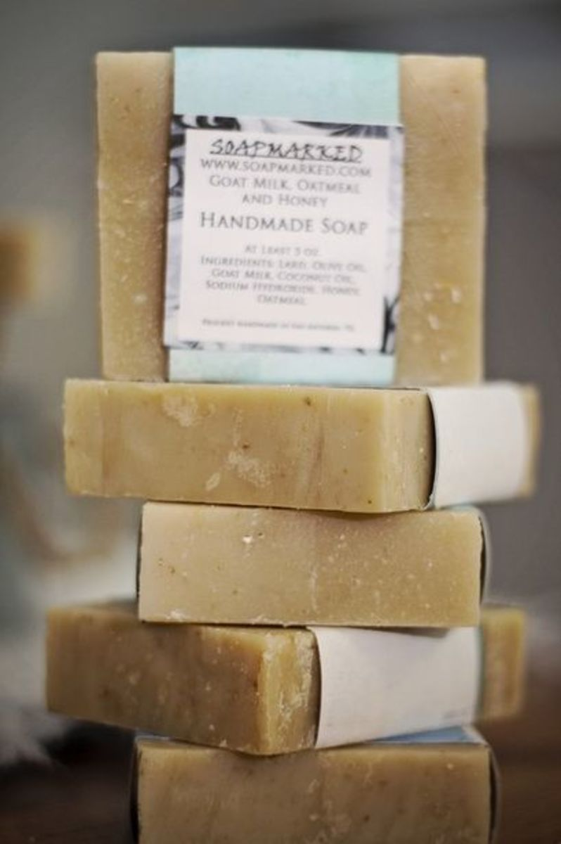 Goat Milk, Oatmeal and Honey handmade soap