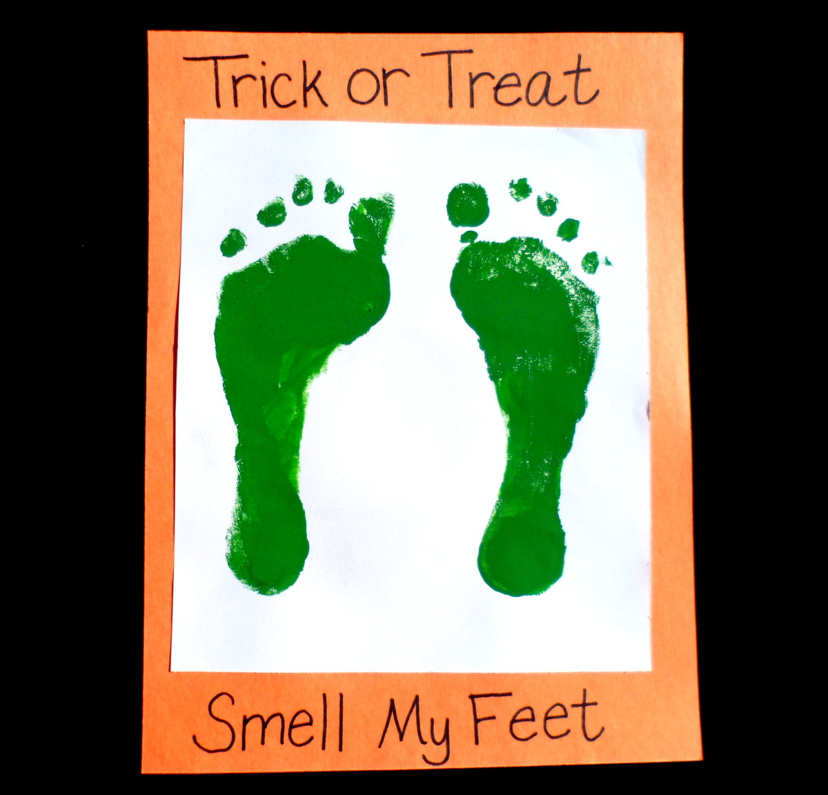 trick or treat smell my feet craft easy crafts handprint and footprint 8157