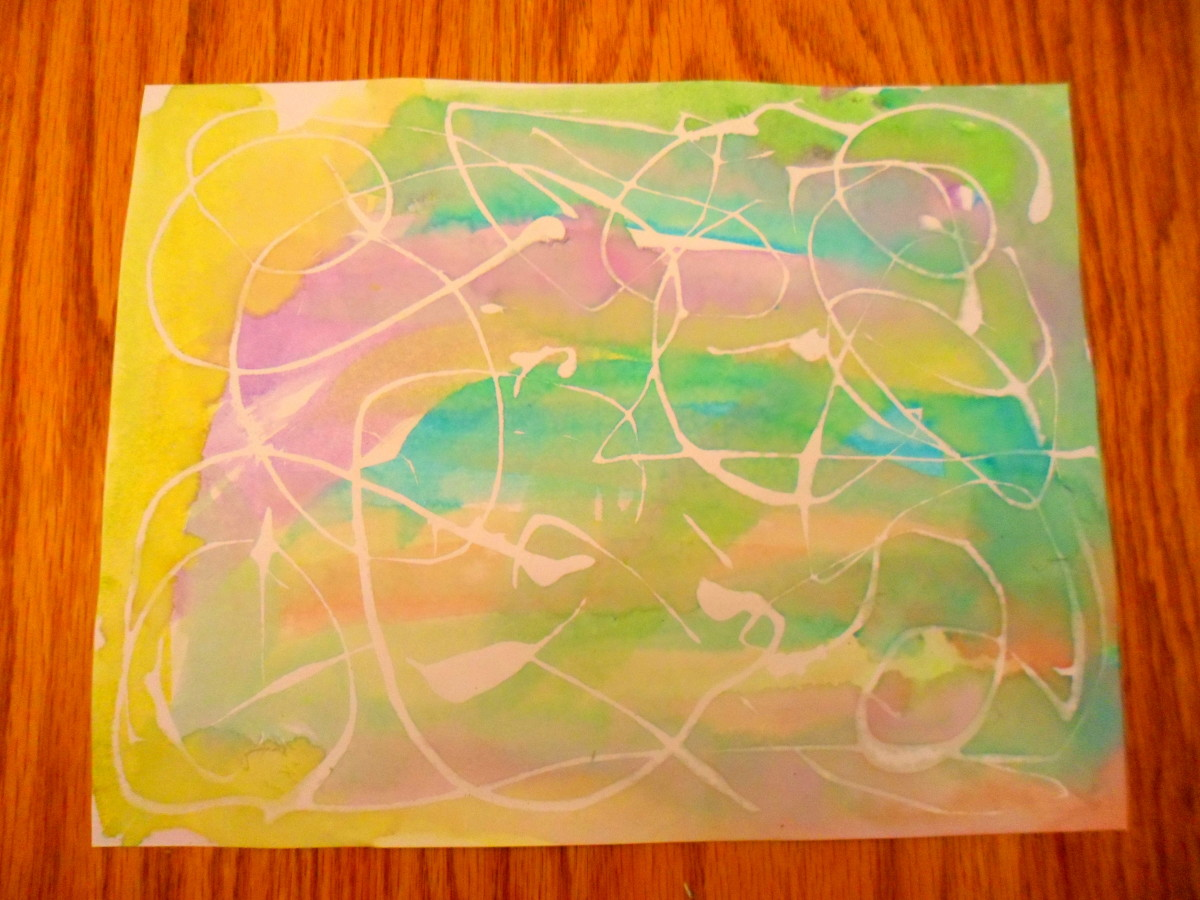 A beautiful abstract painting with a variety of colors, shapes, and lines.