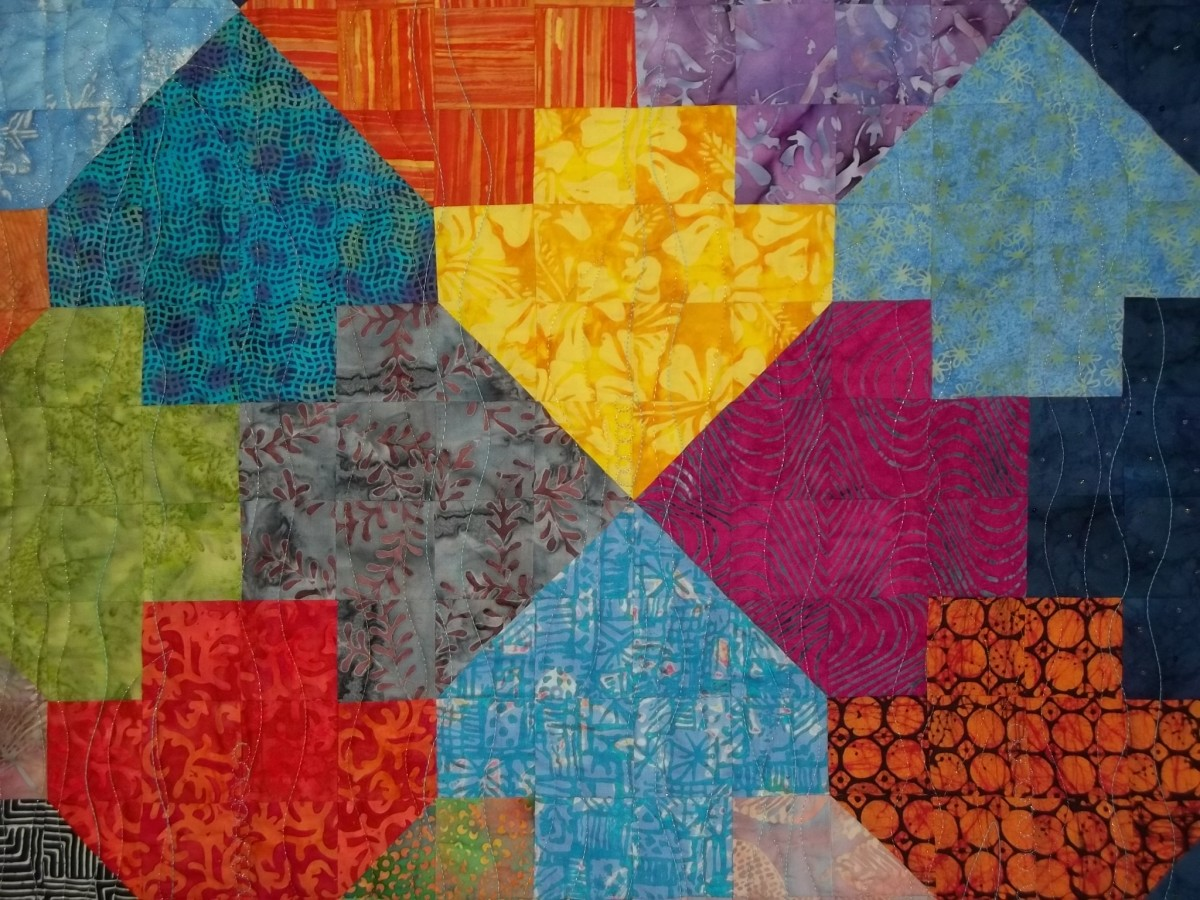 Indonesian Arrow Fish - A Tessellated Quilt Design