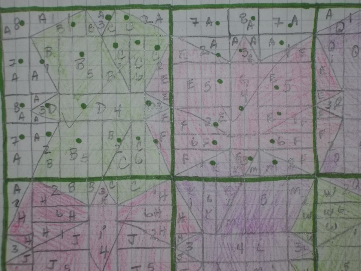 Design sketch and layout map of Tessellated Butterflies.