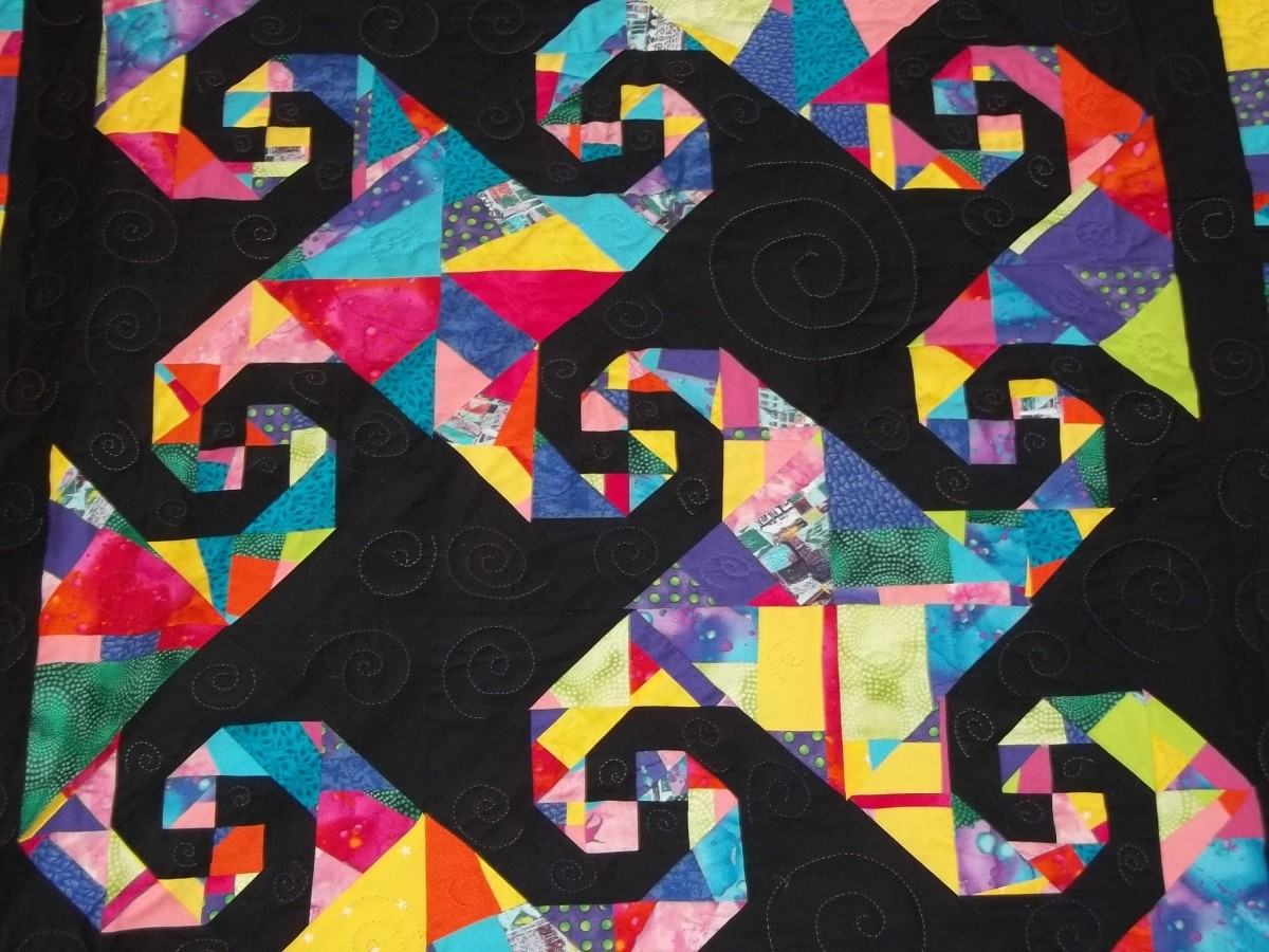 The Snail's Trail - A tessellated quilt pattern