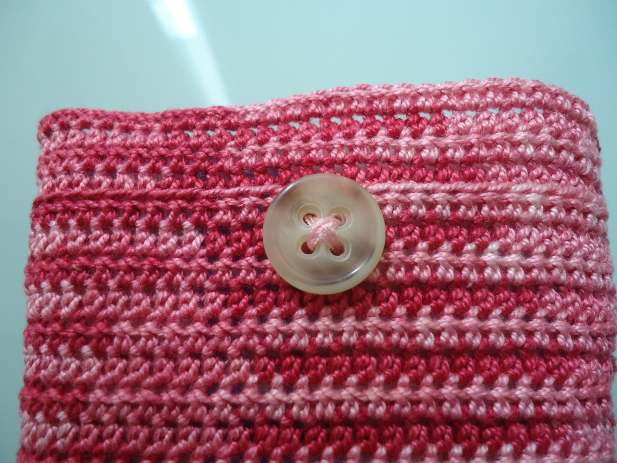 Here is where I decided to sew on my button.