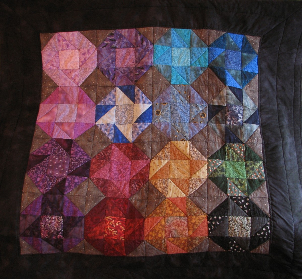 My finished quilt - can you spot my mistake?