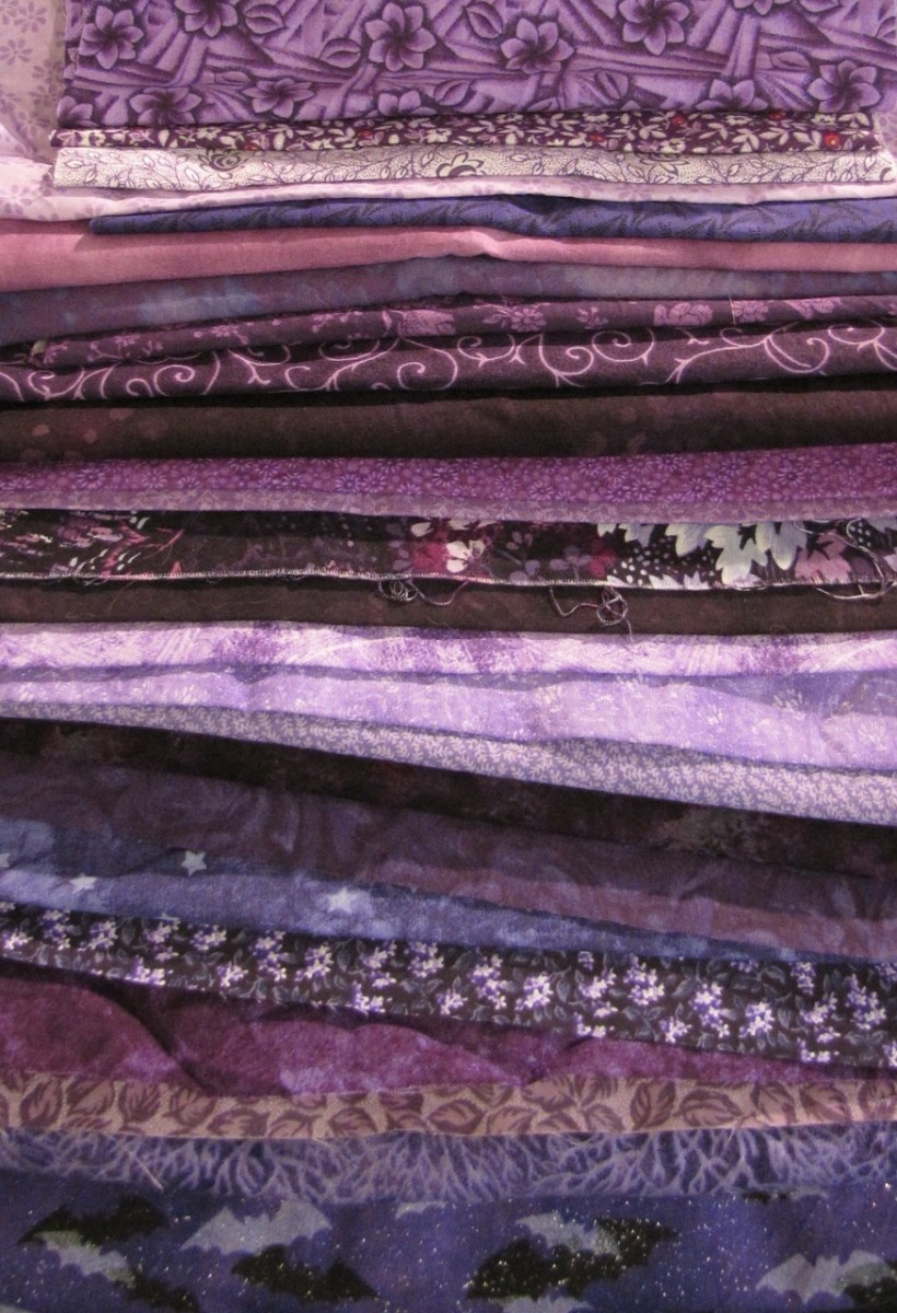 Some of my purple patchwork fabric!