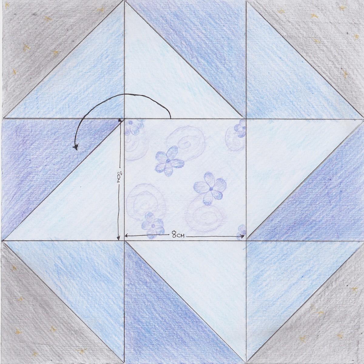 My quilt block design - color