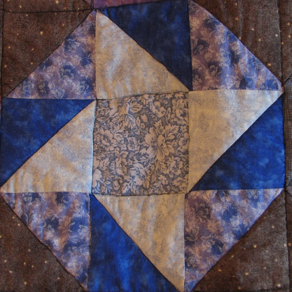 My quilt design - a quilted block.