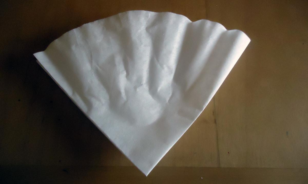 Fold the half in half