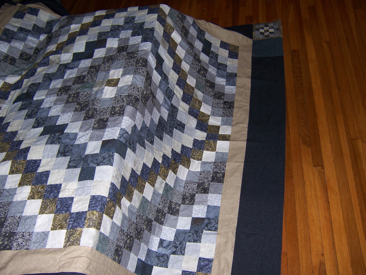 The trip around the world quilt is a good beginner project.