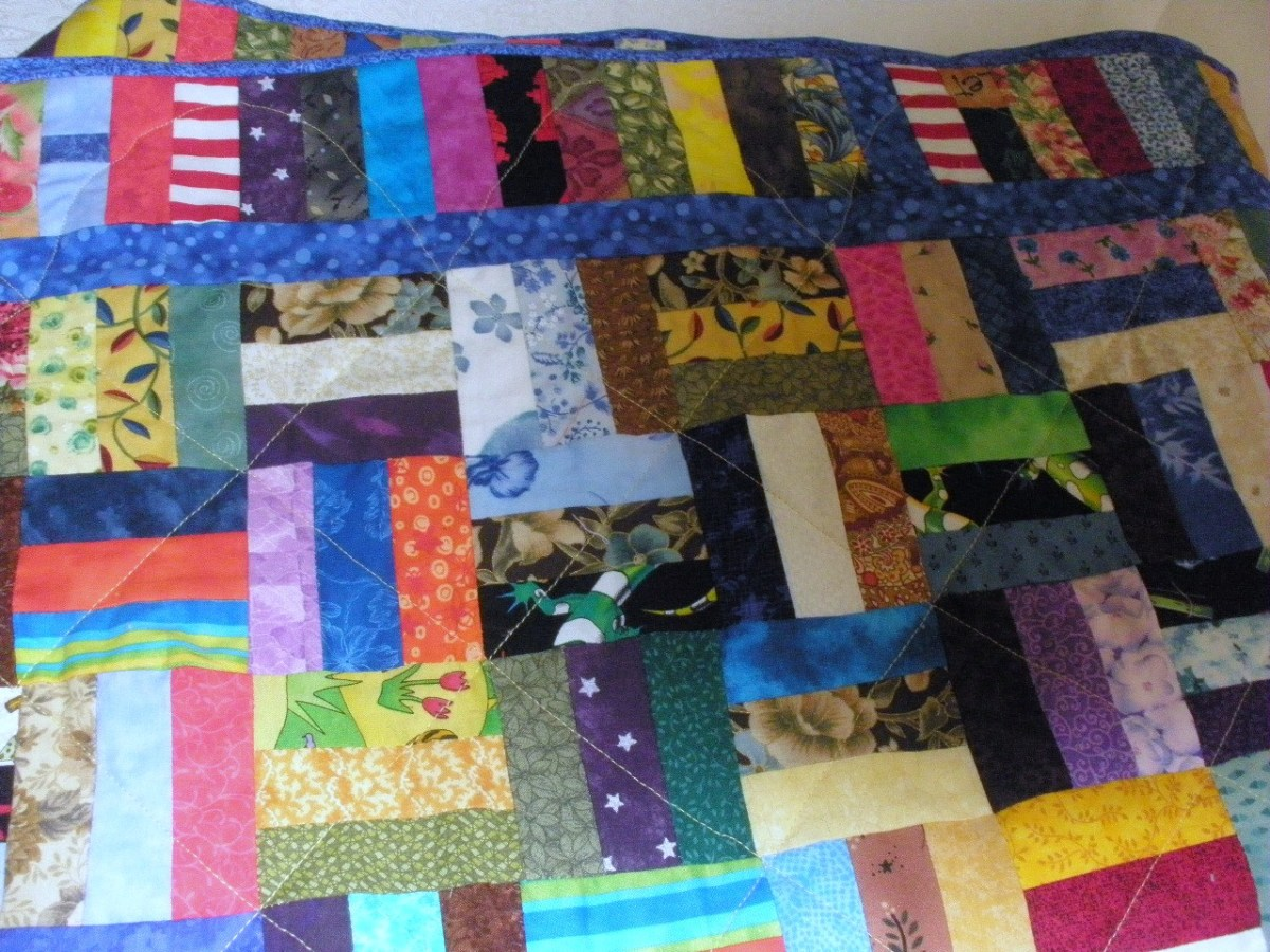 A rail fence quilt is simply three rectangles that are placed in alternating positions, making it a suitable project for beginners.