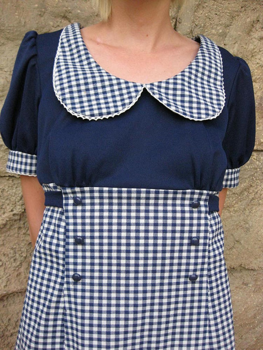 Gingham has always been a popular fabric in dressmaking.