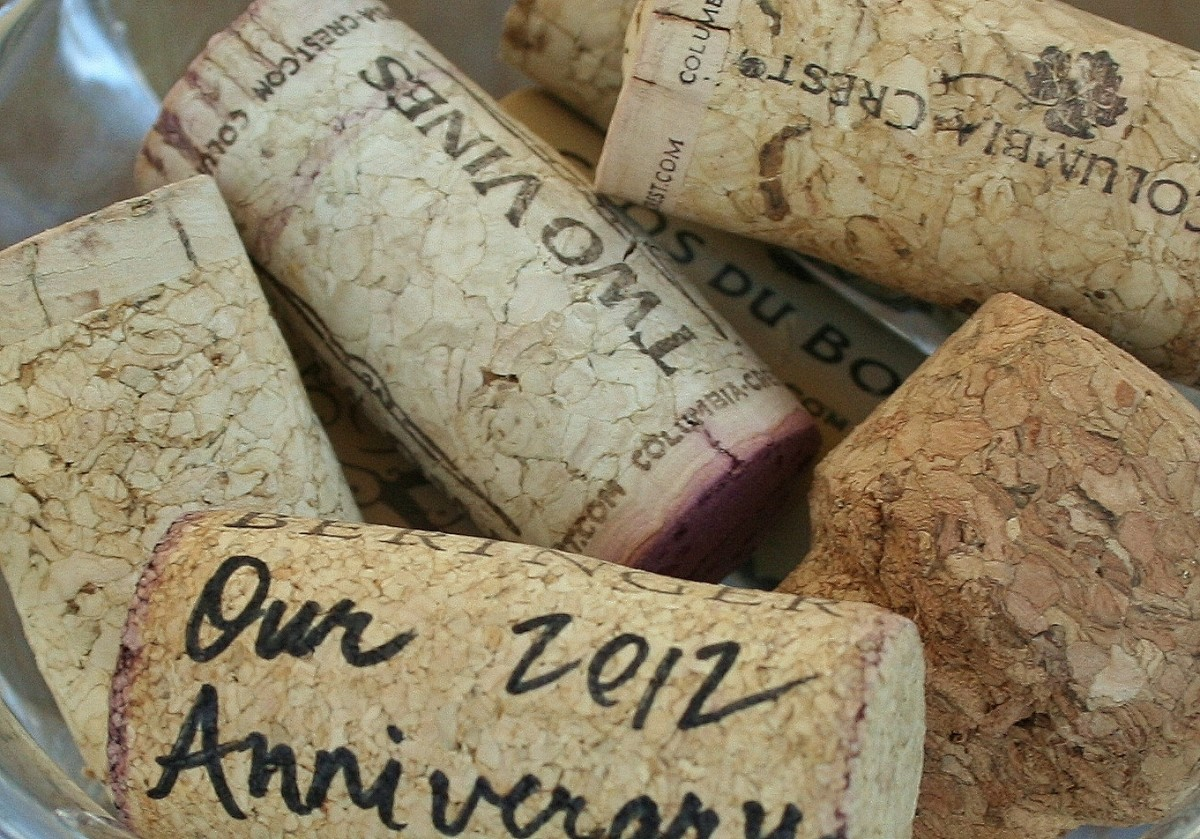 Some people save corks from special-occasion bottles, writing the date & event on them to create instant keepsakes.