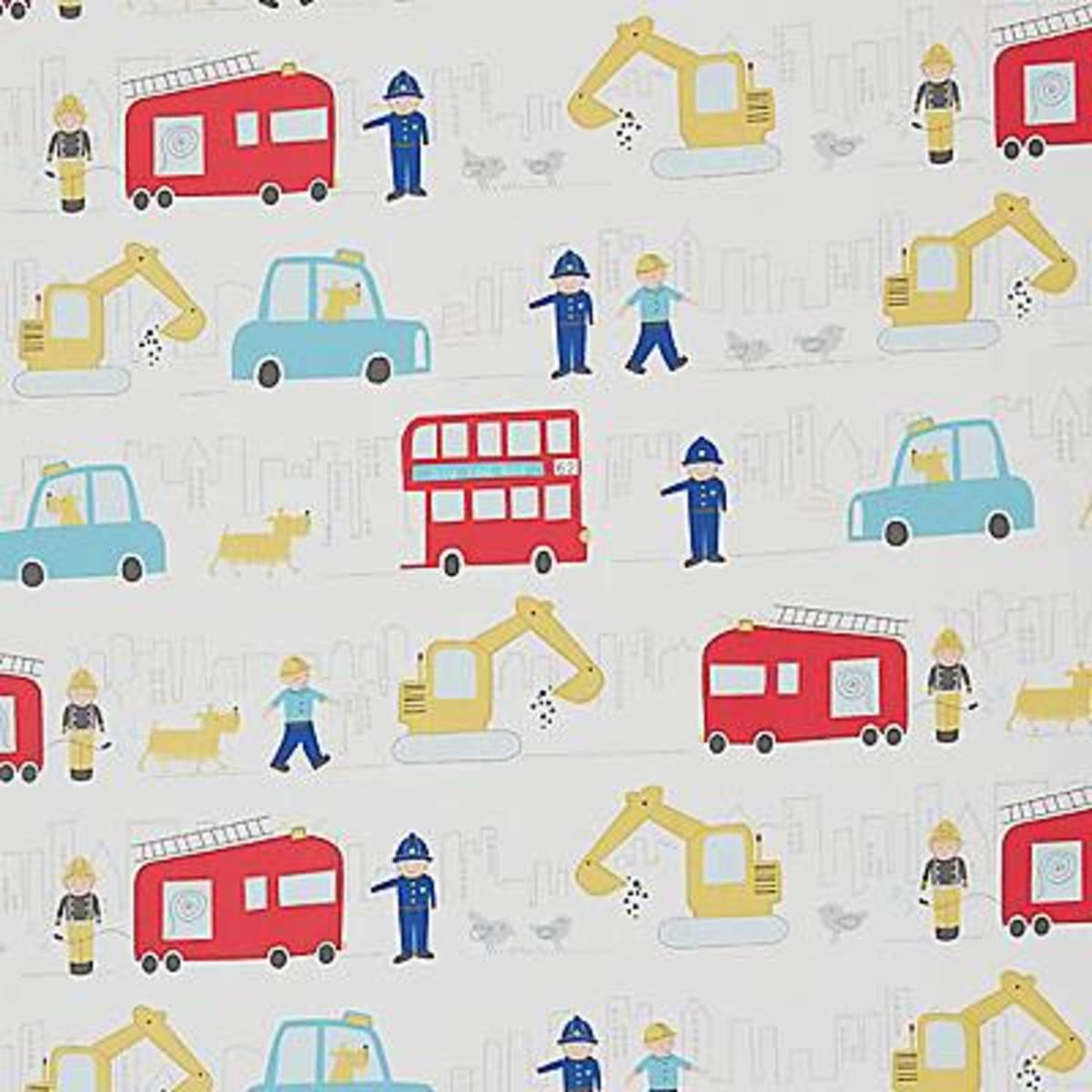 Children's fabric in a delightful washable print
