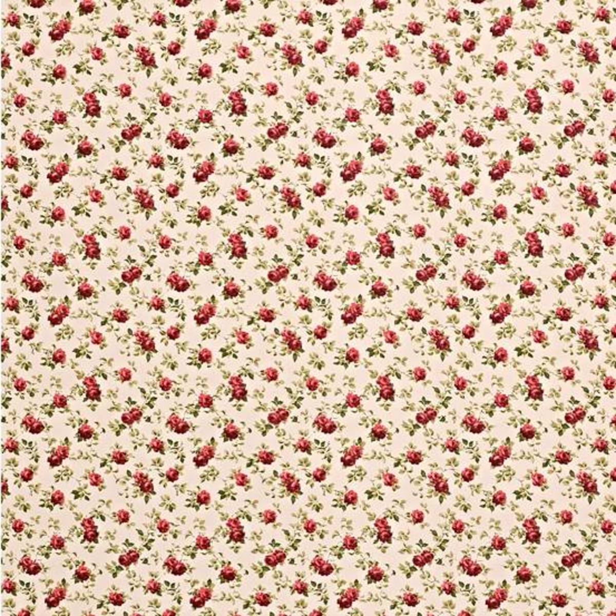 This ditsy all over print is easier to match than a formal pattern. These Fabrics Are Available From John Lewis in UK