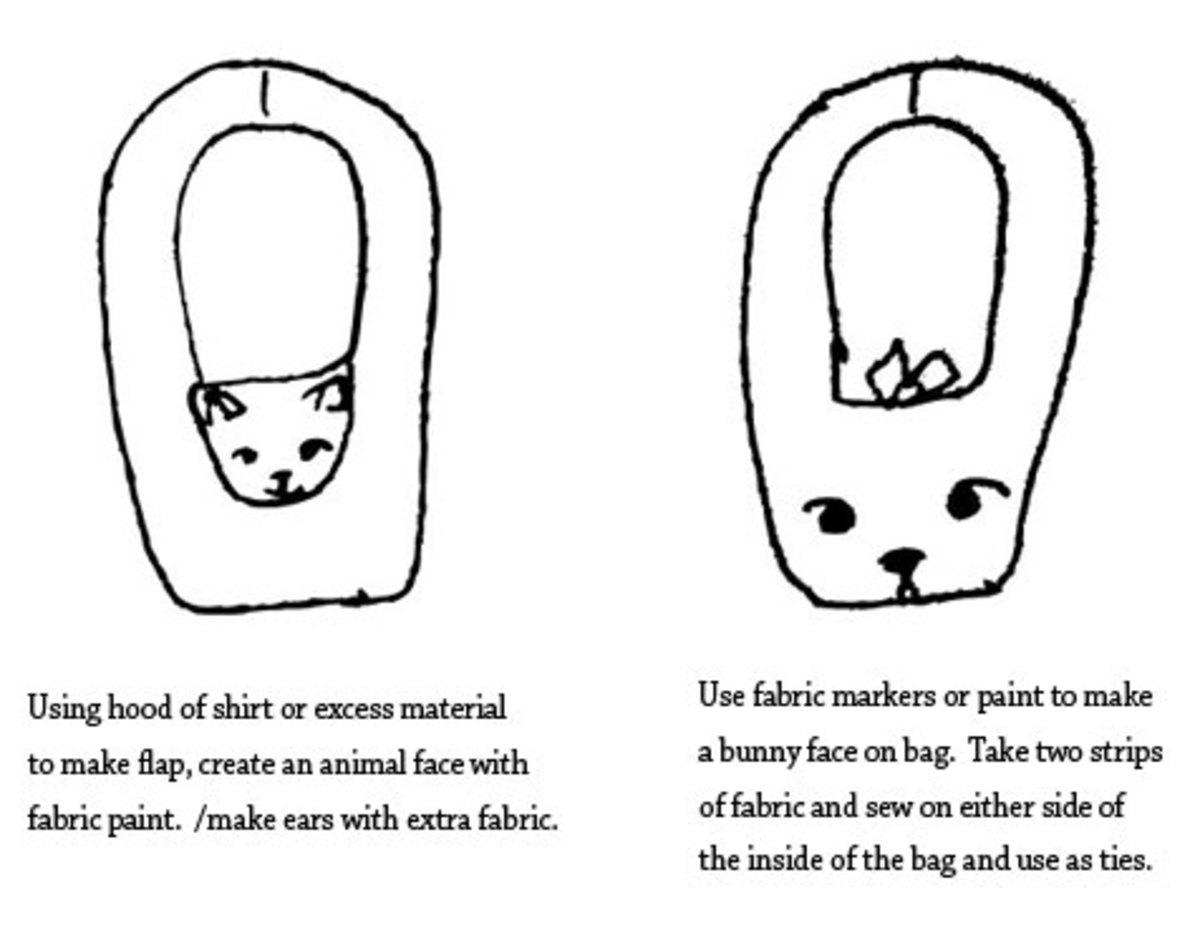 DIY animal bags.