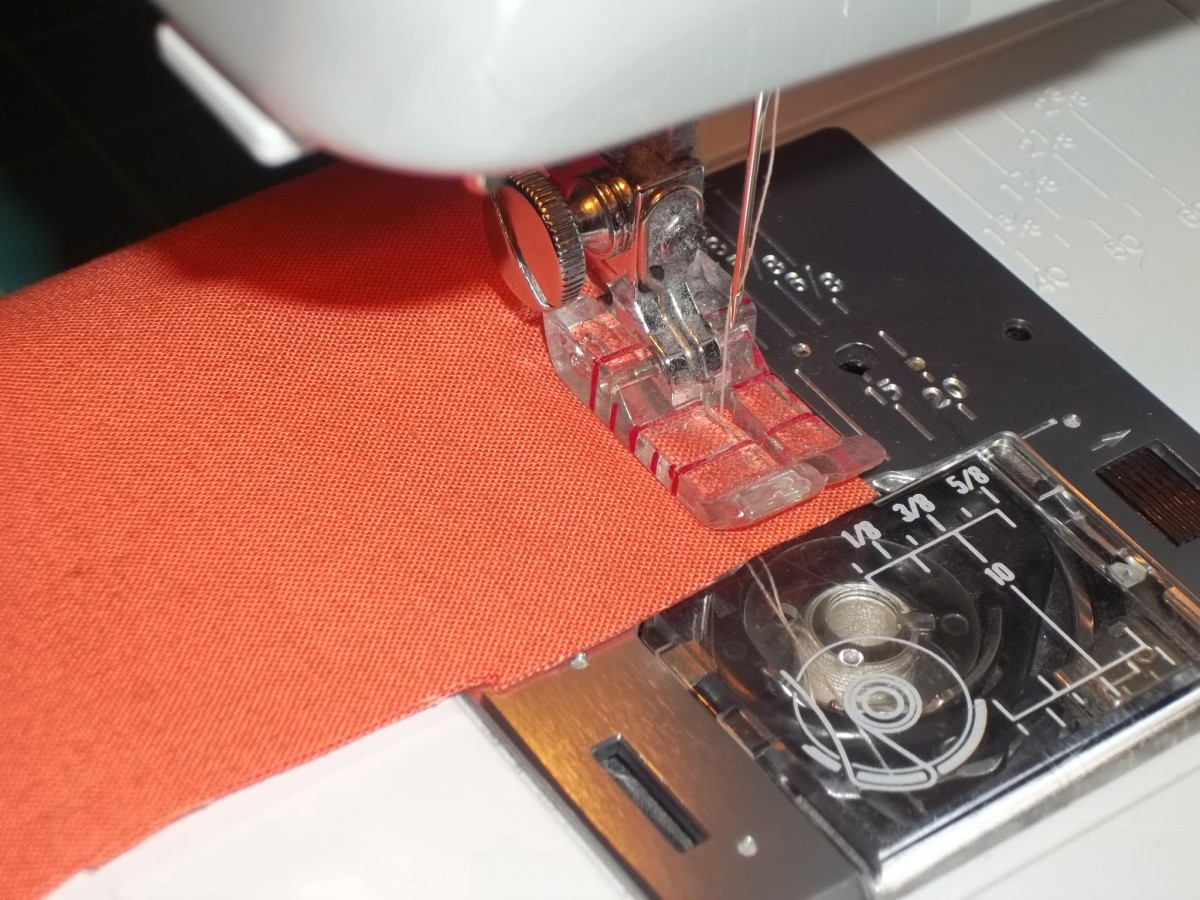 Sewing fabric together without any embellishments.