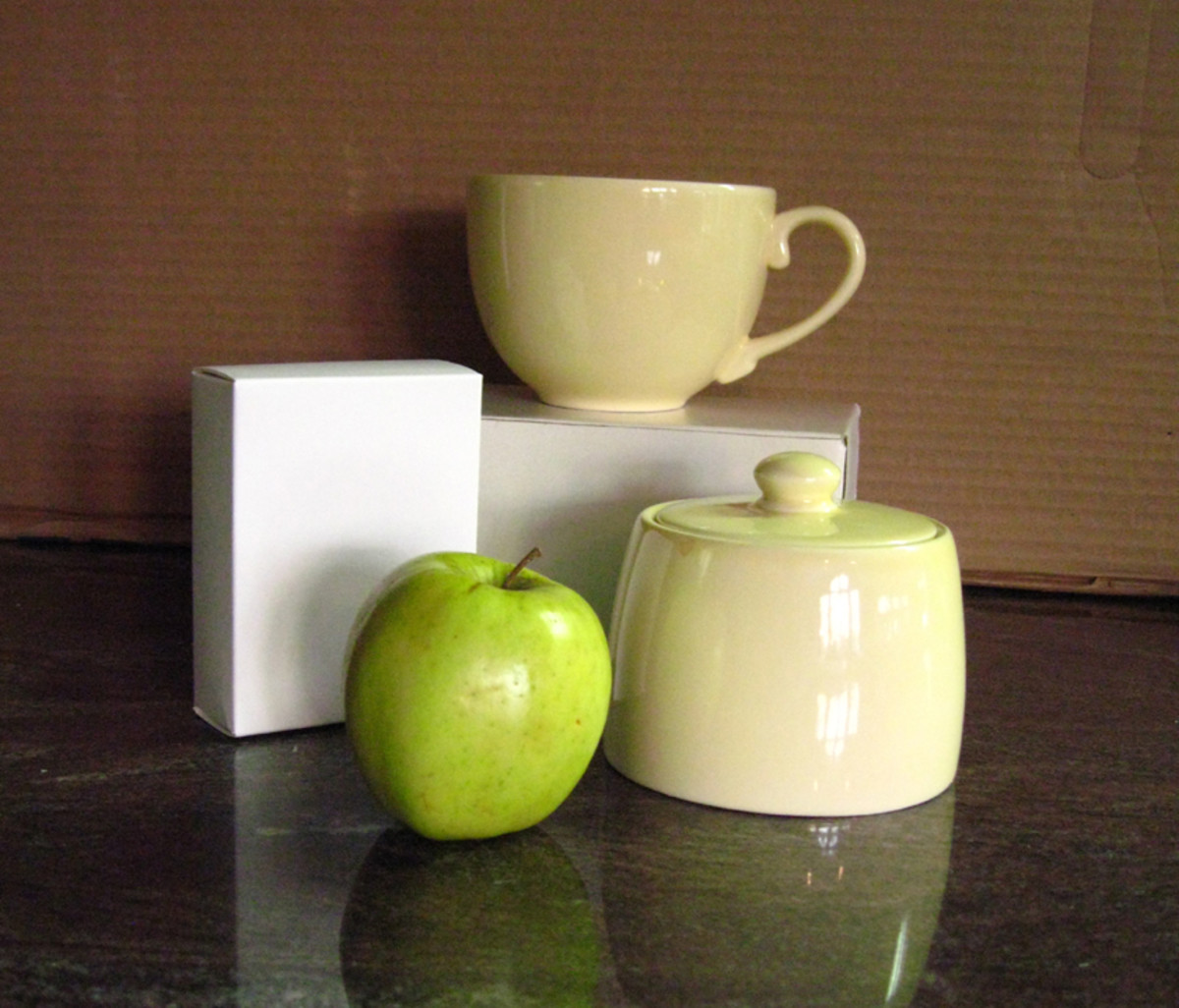 Example of fairly simple still life set up.