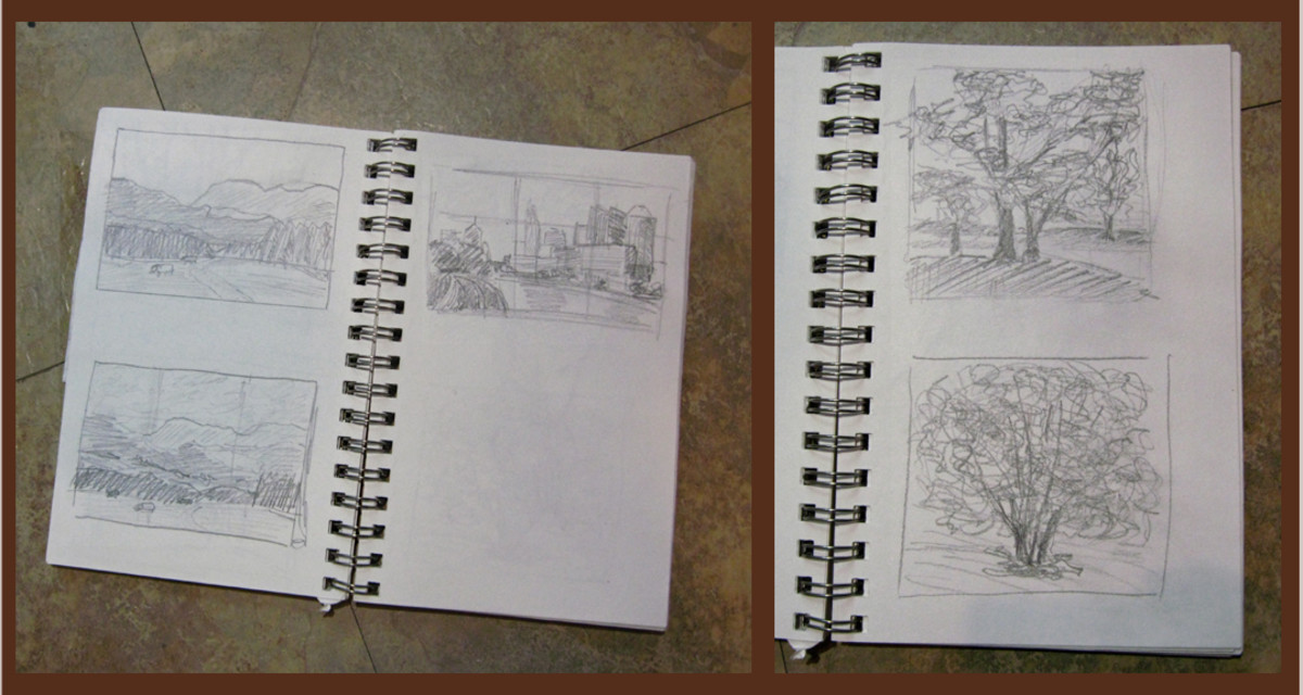 Some thumbnail drawings on my sketchbook