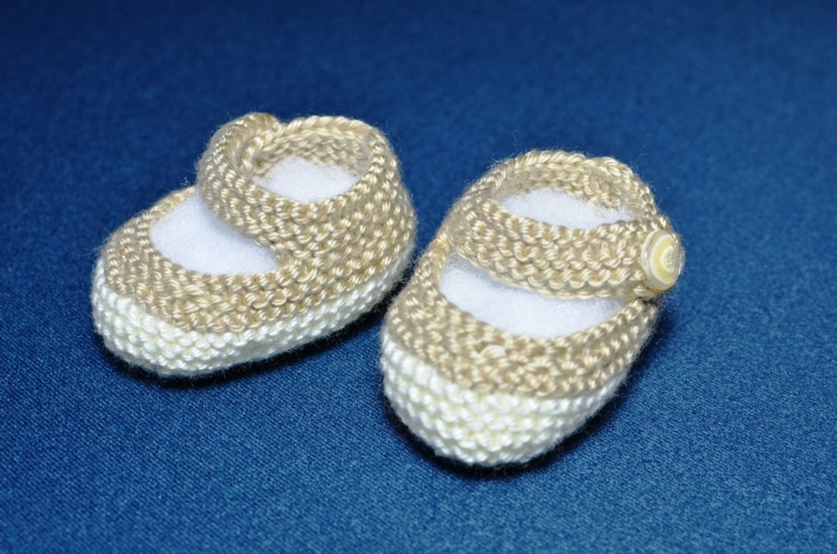 mychoice: Mary Jane Baby Booties Knitting Pattern Designed by