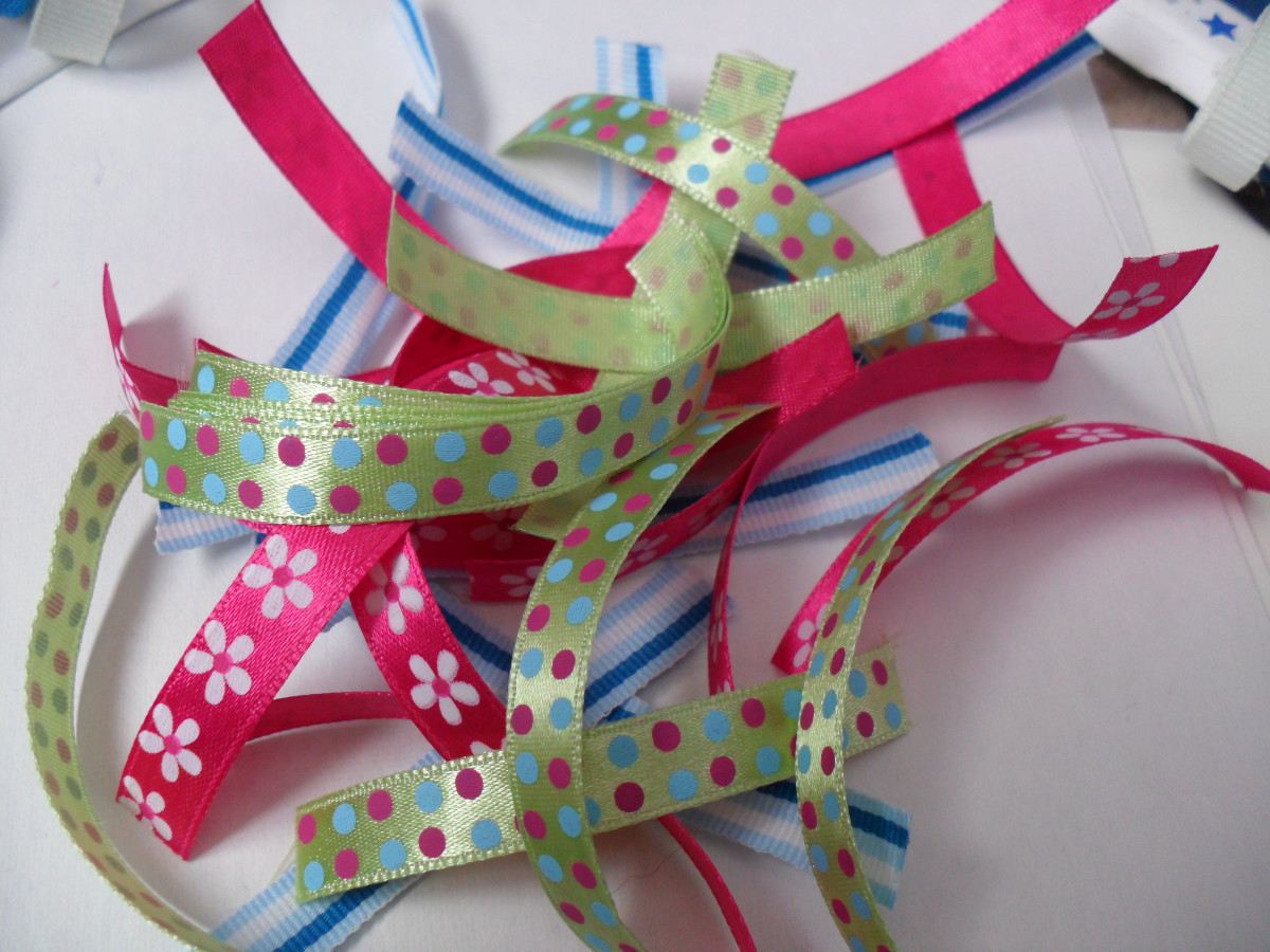 Cut strips of ribbon for your wreath