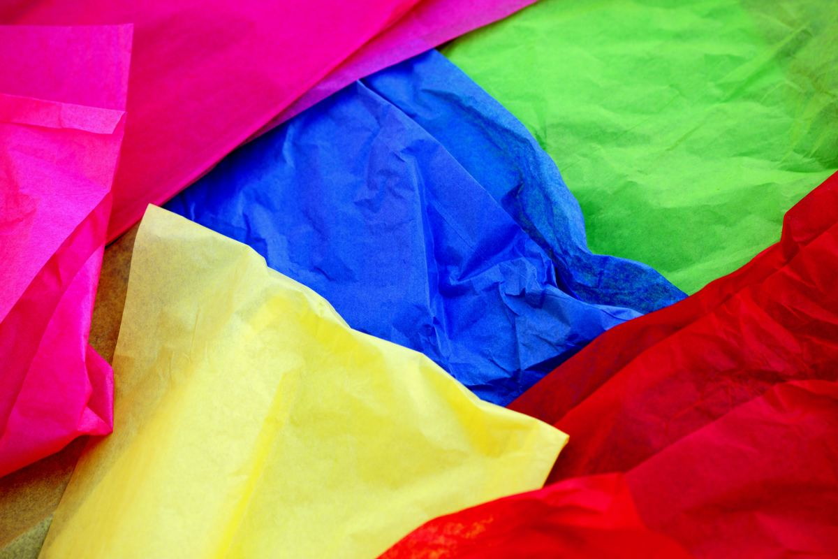 Tissue Paper in a Variety of Colours