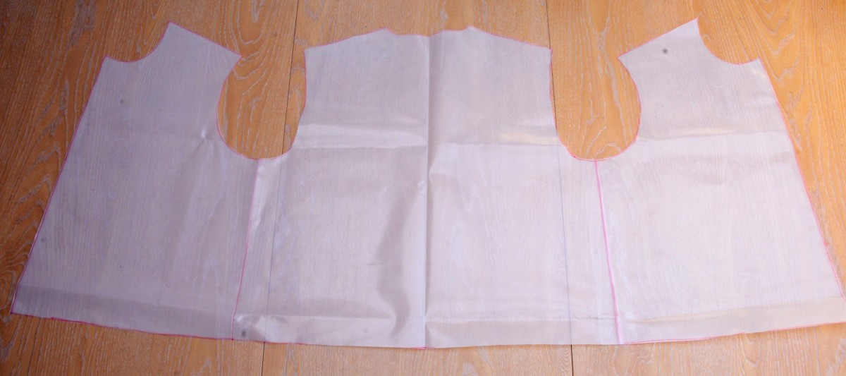 Trace the template onto a sheet of thick plastic