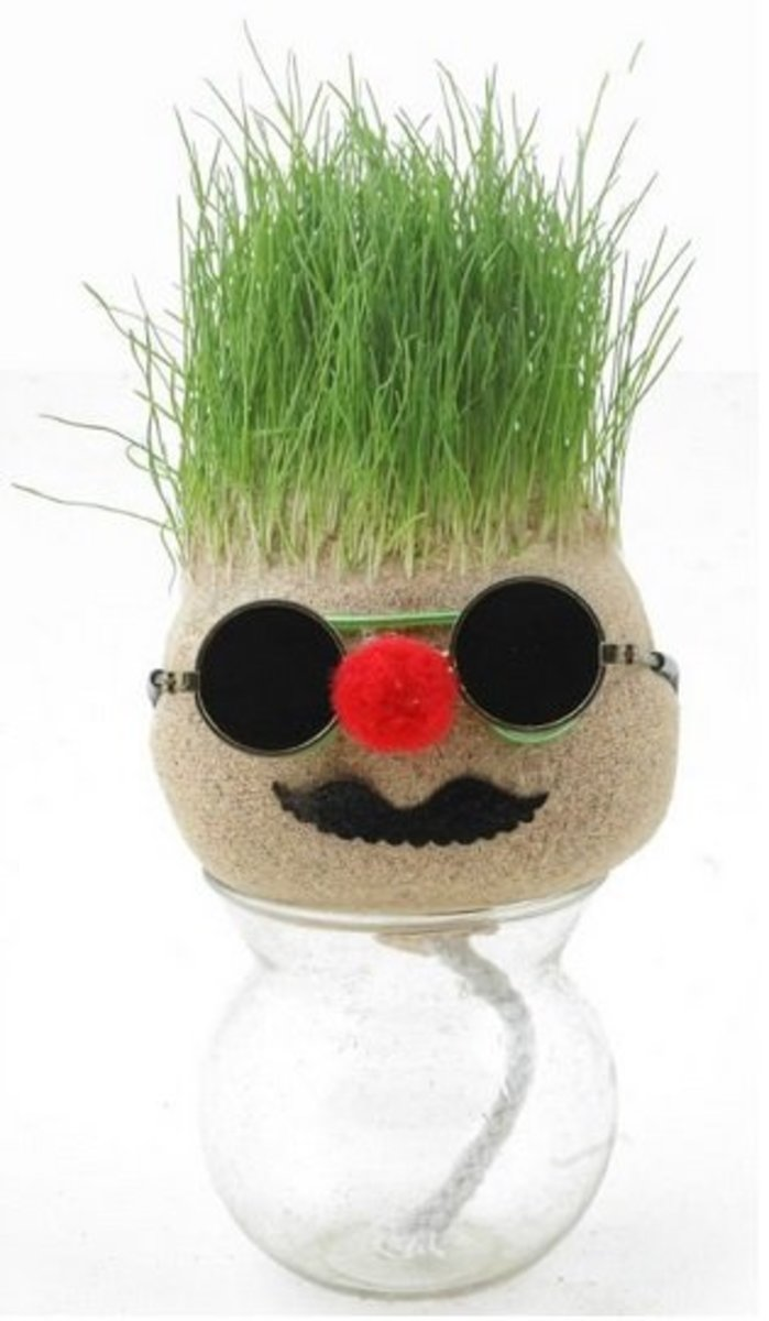 Grass Doll with cotton tail