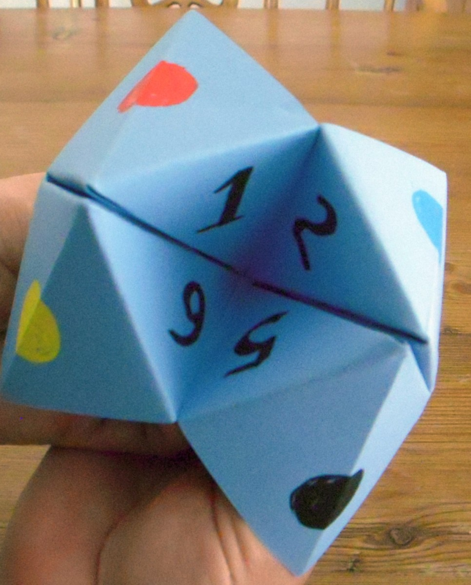 Cootie catcher, ready to play