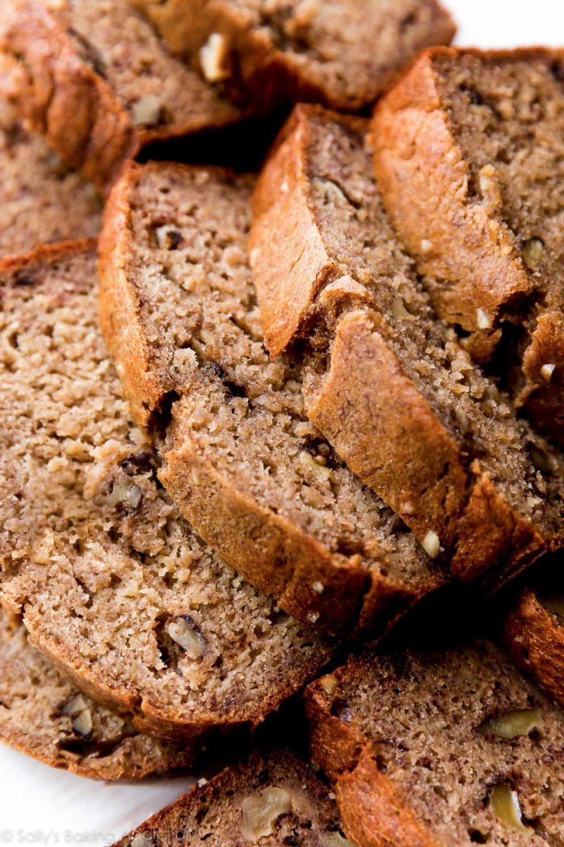 Perfectly Moist (but Not Soggy) Banana Nut Bread