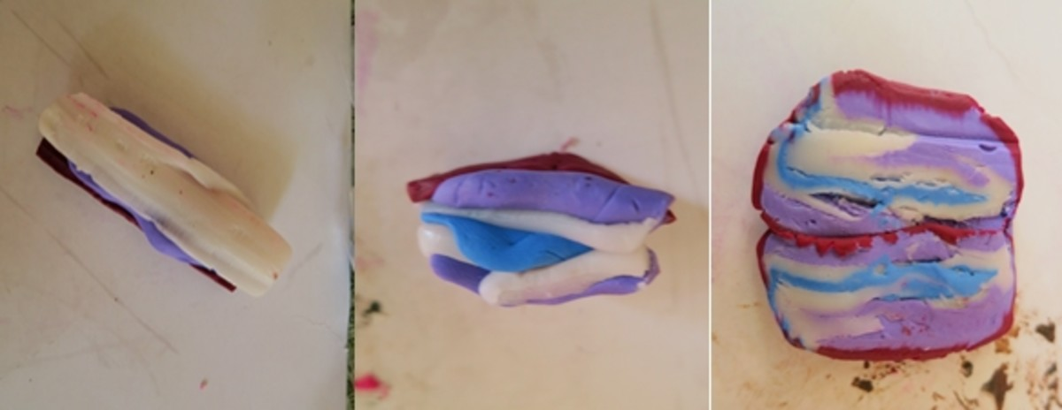 making a handmade shawl pin from polymer clay