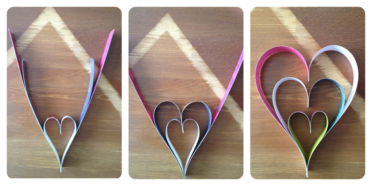 Step-by-step process of making the heart