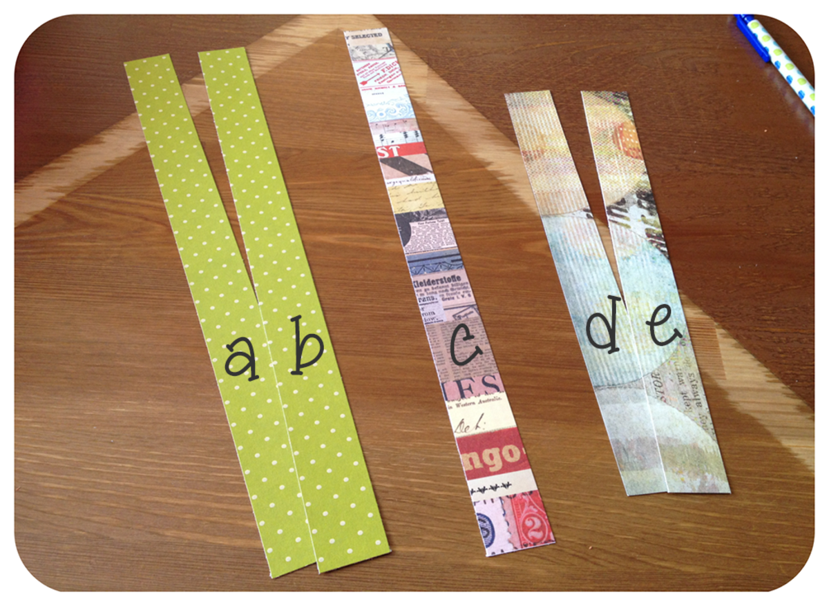 Cut paper into thin strips.