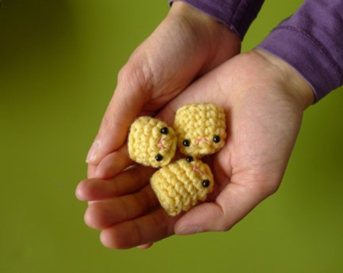 These little crocheted tater tots are cute though, right? And ideal for practising amigurumi techniques.