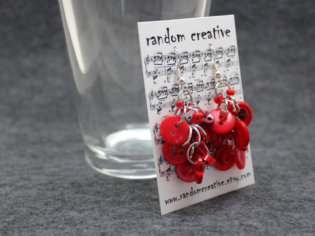 I package all of my earrings on custom earring cards.