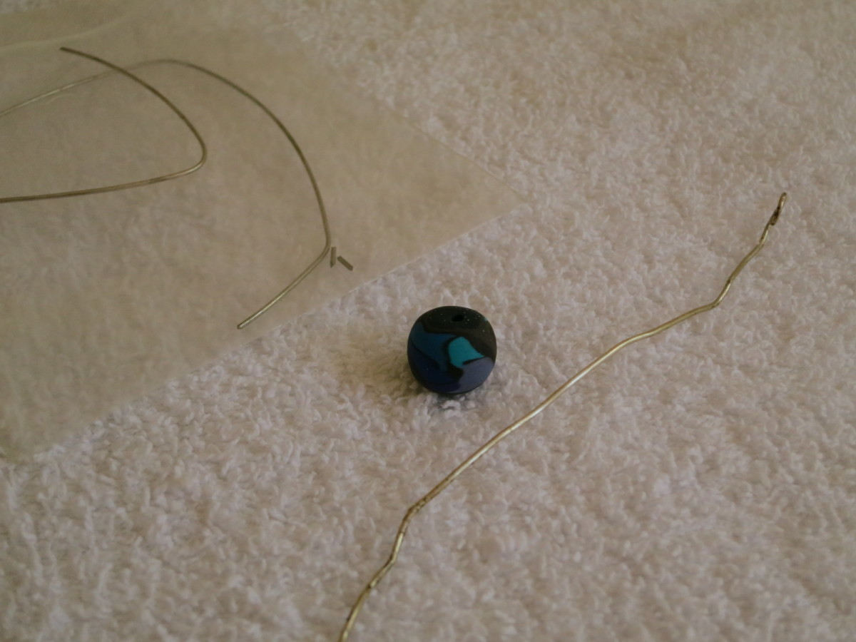 materials for wire and bead shawl pin