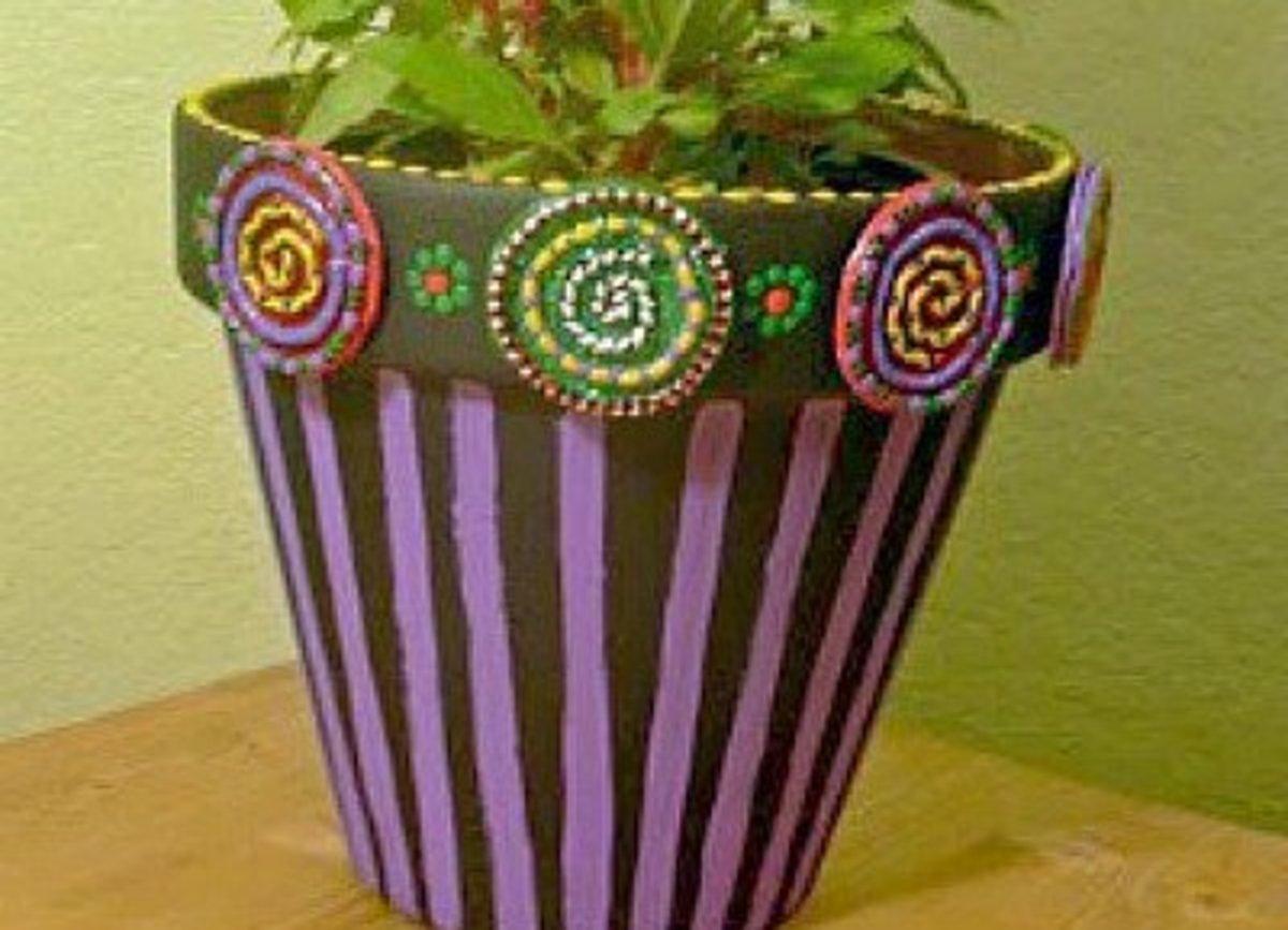 Fiesta Flower Pot