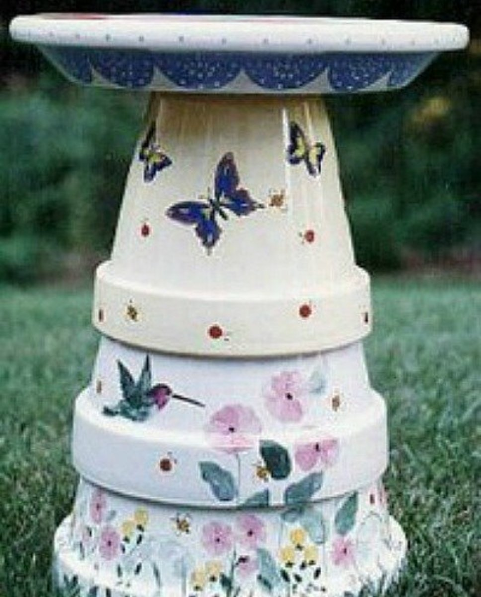 To Make Beautiful Fiesta Flower Pots Like The One Shown Above Go I Love Create Com For Tutorial