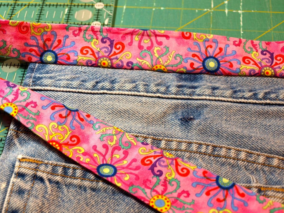 Sew the sash on.