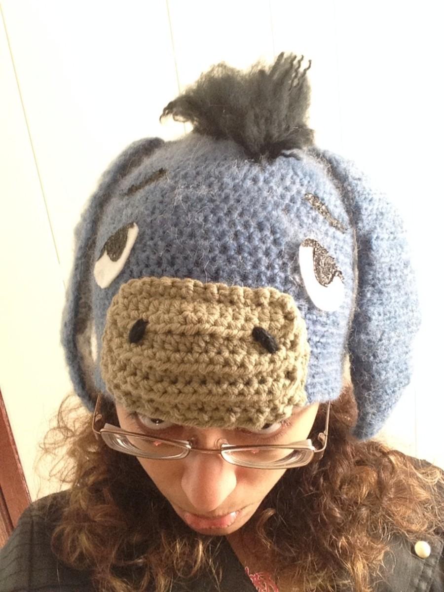 Crocheted Eeyore Hat