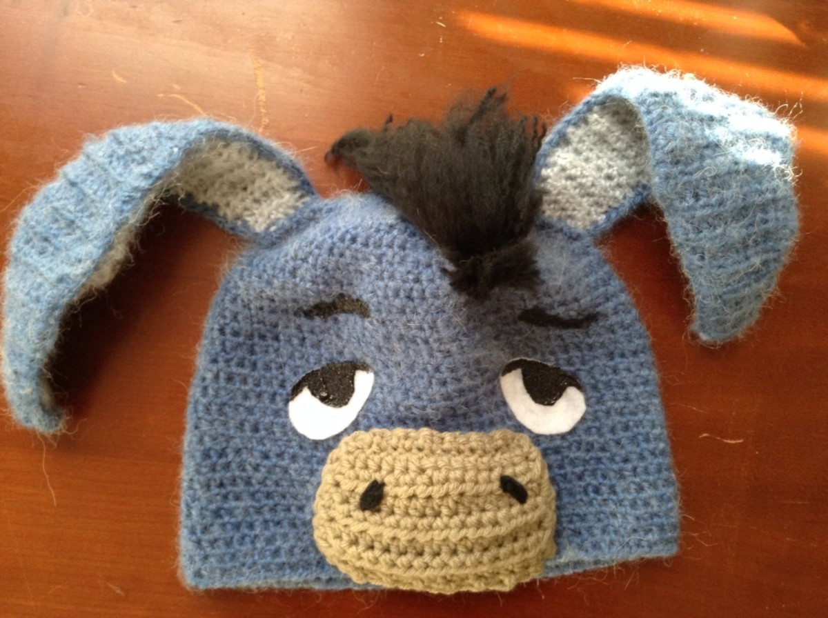 Crocheted Eeyore Hat from Winnie the Pooh