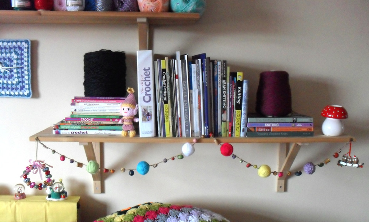 A bookshelf might be just the right spot to hang yours, too.