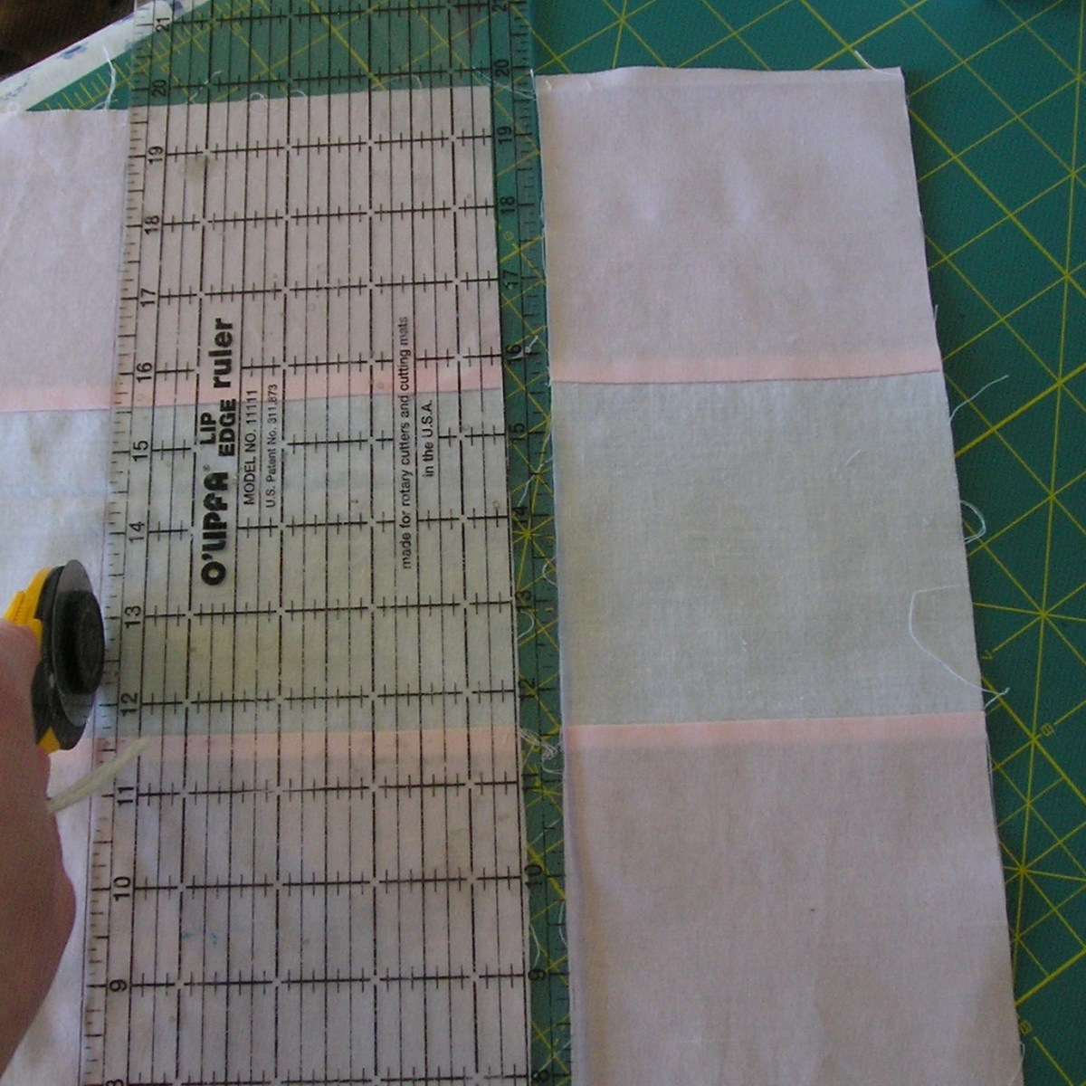 nine patch strip piecing