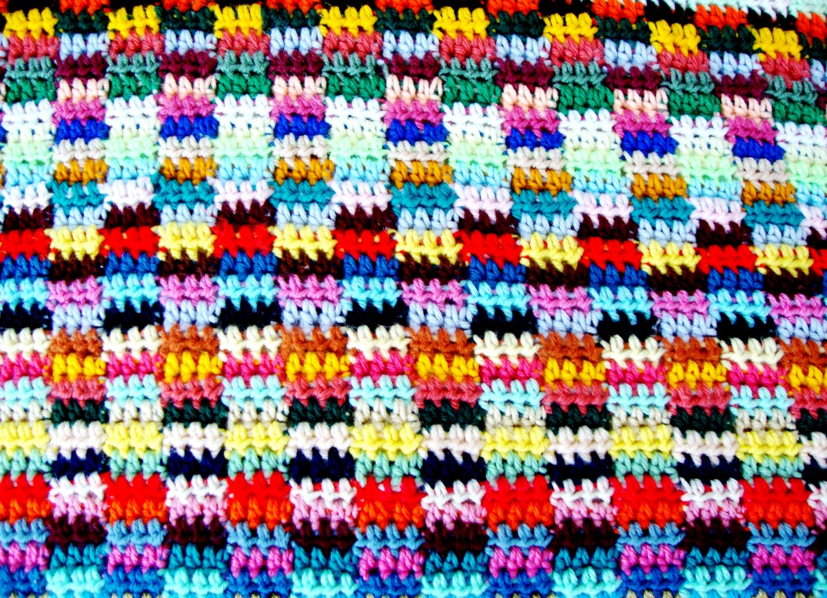 How To Make A Scrapghan Crochet A Throw Or Blanket From Yarn