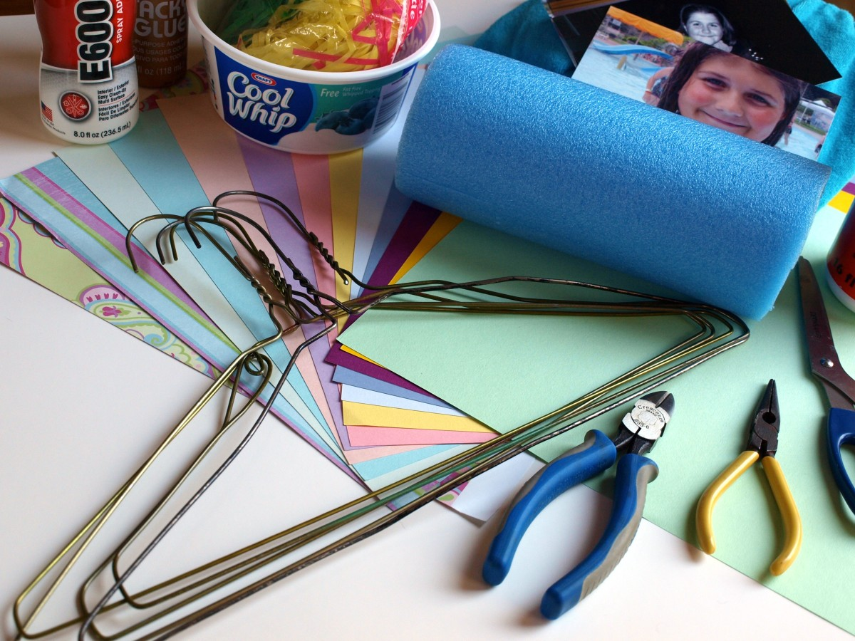 Here are all of the supplies you'll need to make this upcycled craft project.