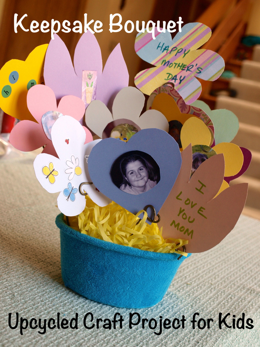 A gift that is sure to make anyone's day, this keepsake bouquet is the perfect upcycled craft project.