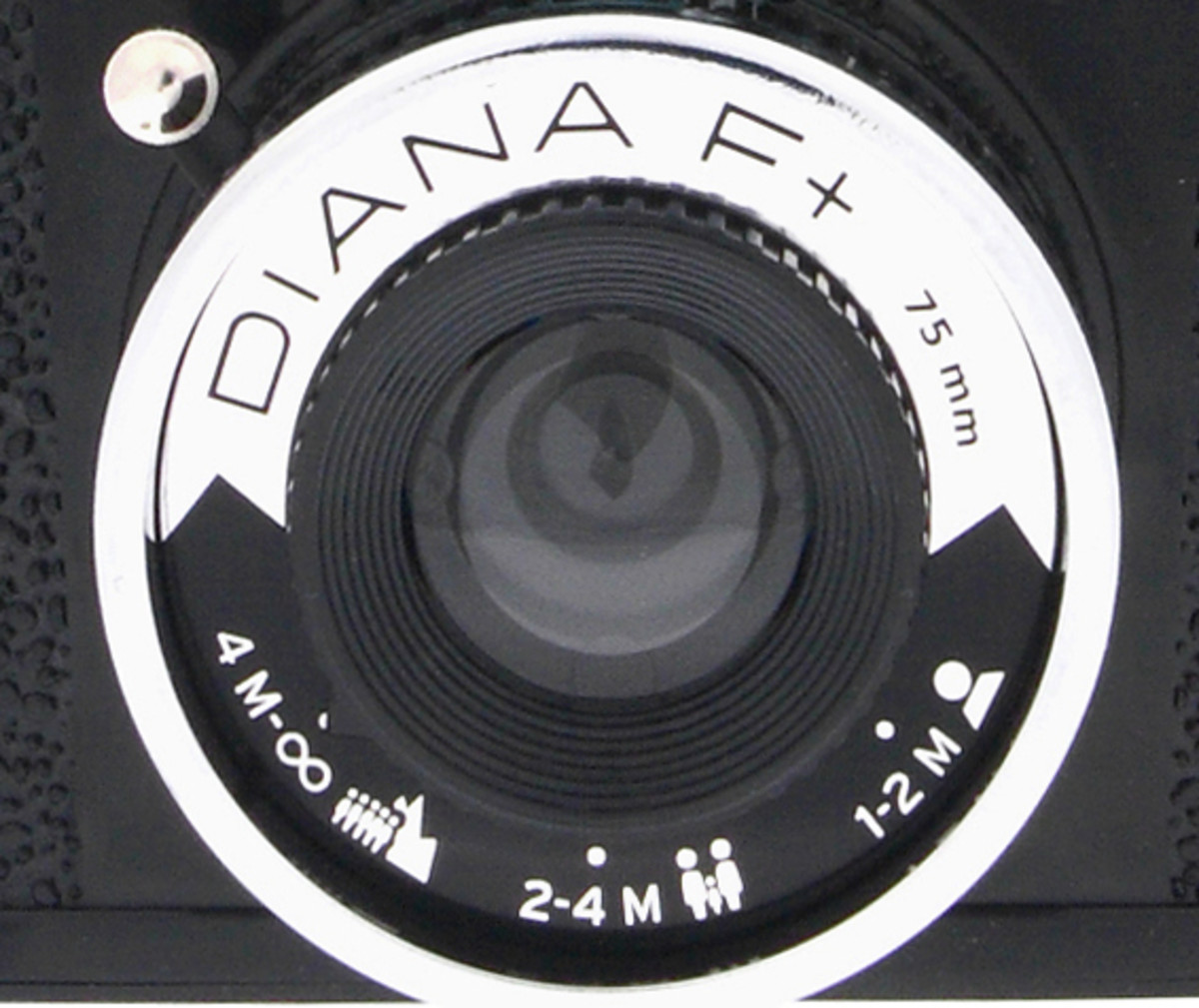 Focus settings on the Diana F+ camera