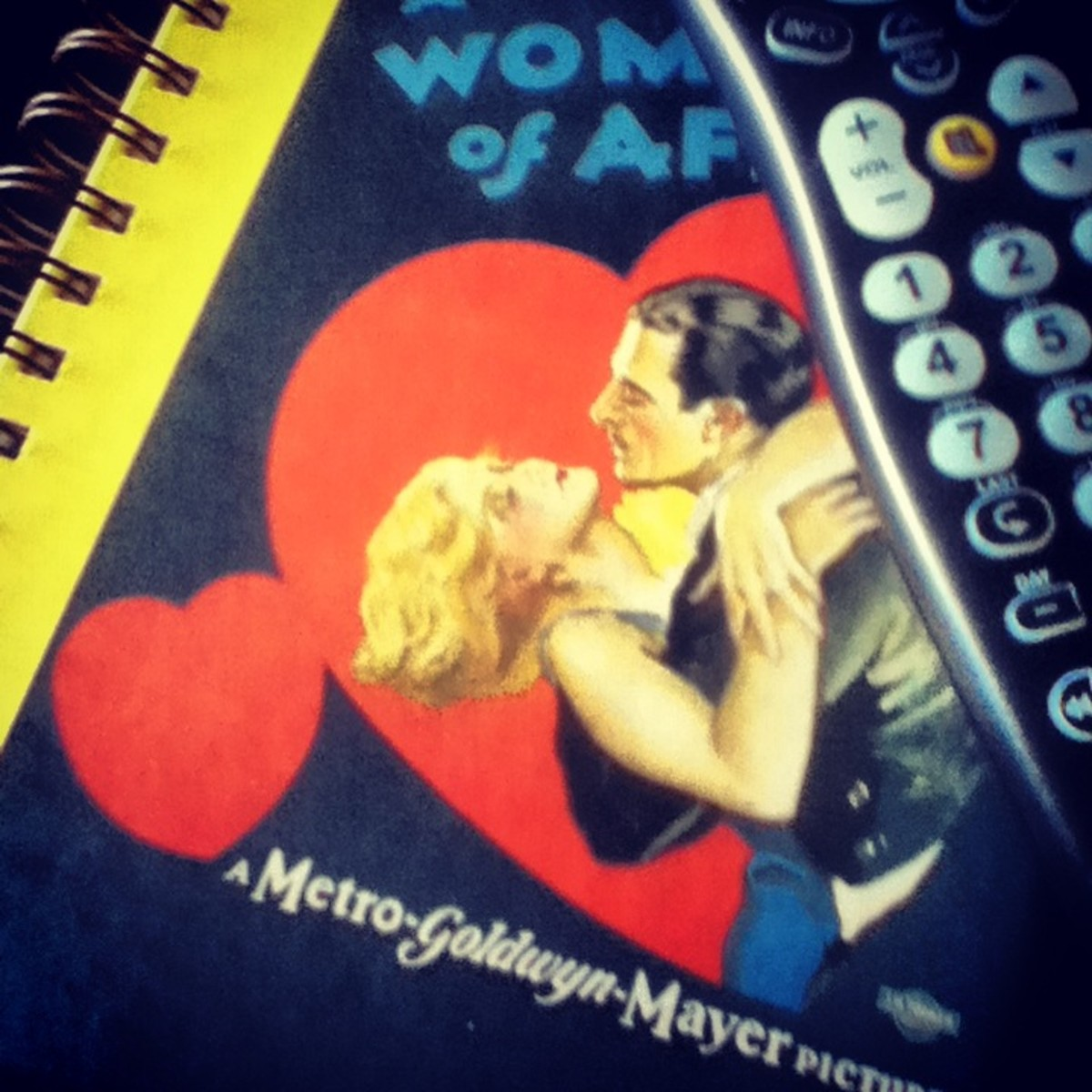"""Keep a notebook of classic movie titles next to the remote control. Next time you can't decide on what to watch, open your journal and find an """"I've been dying-to-watch this"""" movie title!"""