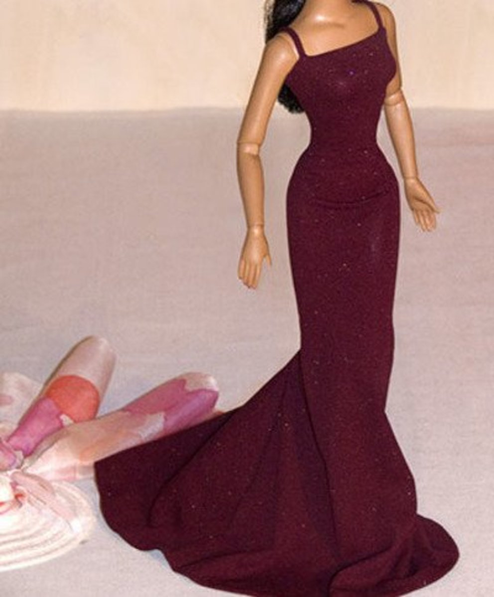 photograph relating to Printable Barbie Clothes Patterns identified as 56 Cost-free Doll Garments Routines: All Dimensions FeltMagnet