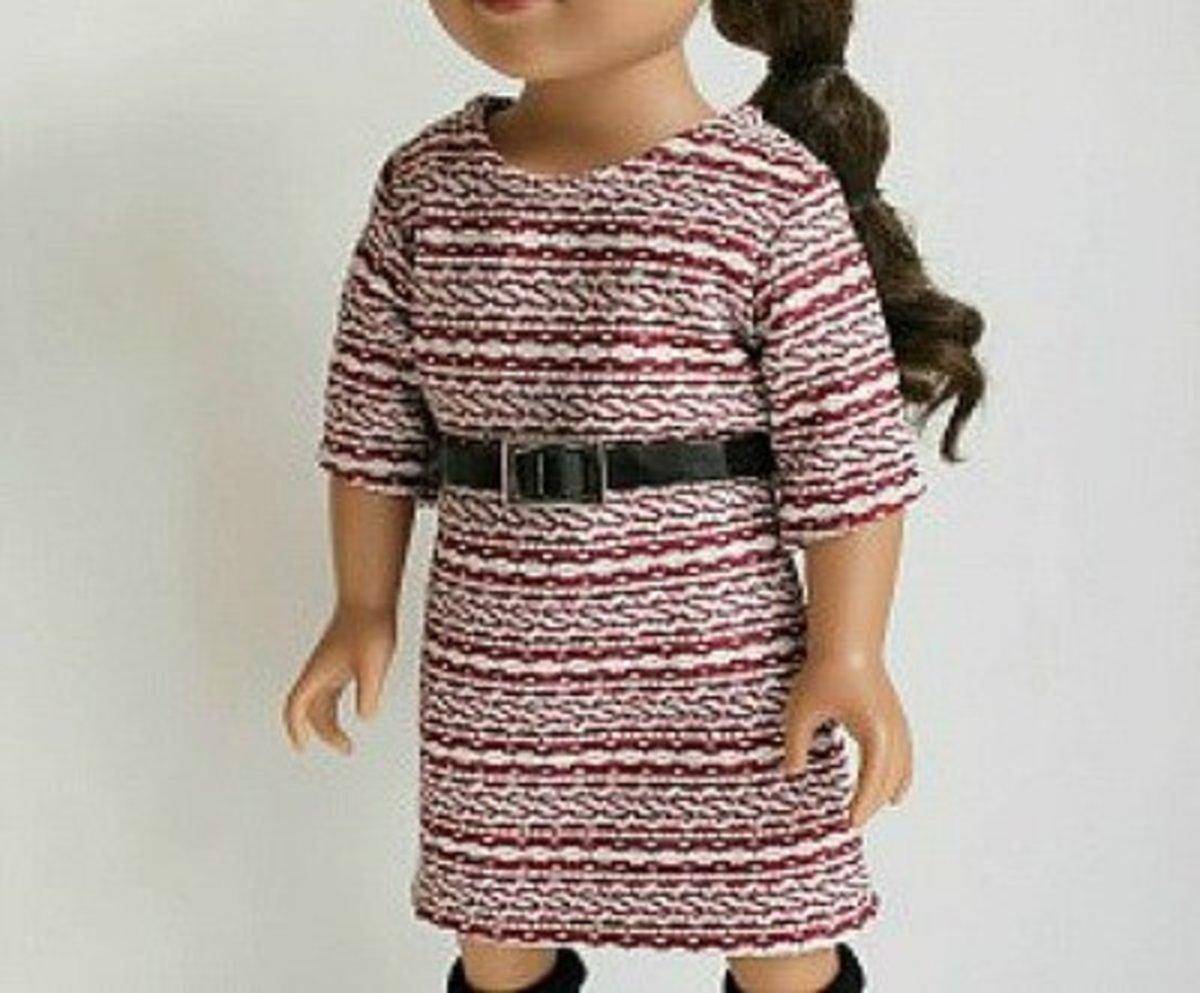 Knit fabric dresses